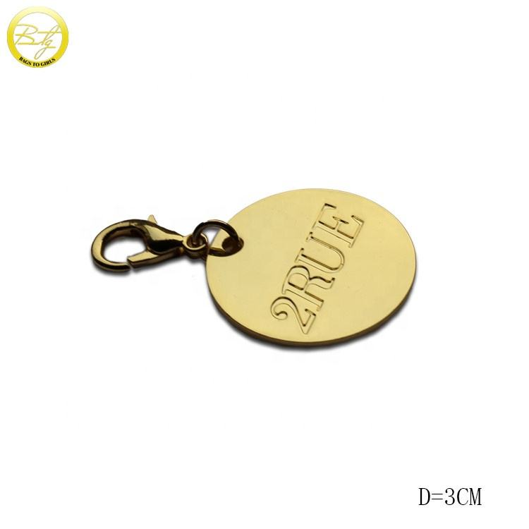 Zinc Alloy [ Charm ] Custom Logo Key Chain Charm Lobster Clasp Hang Tags For Promotion Gift