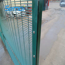 Prison/Airport safety anti climb welded wire mesh fence 358/anti climb clear view fence