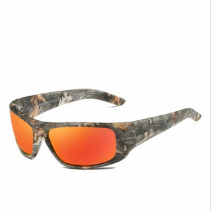 Best selling camouflage sports riding sunglasses Fishing polarized sunglasses Color film Anti-glare Anti-UV sunglass