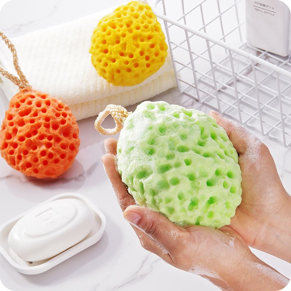Shower Sponges Soft Sponge Body Bath Shower Newborn Soft Body Bath Shower Spa Exfoliator Washing Cleansing Puff Scrubber