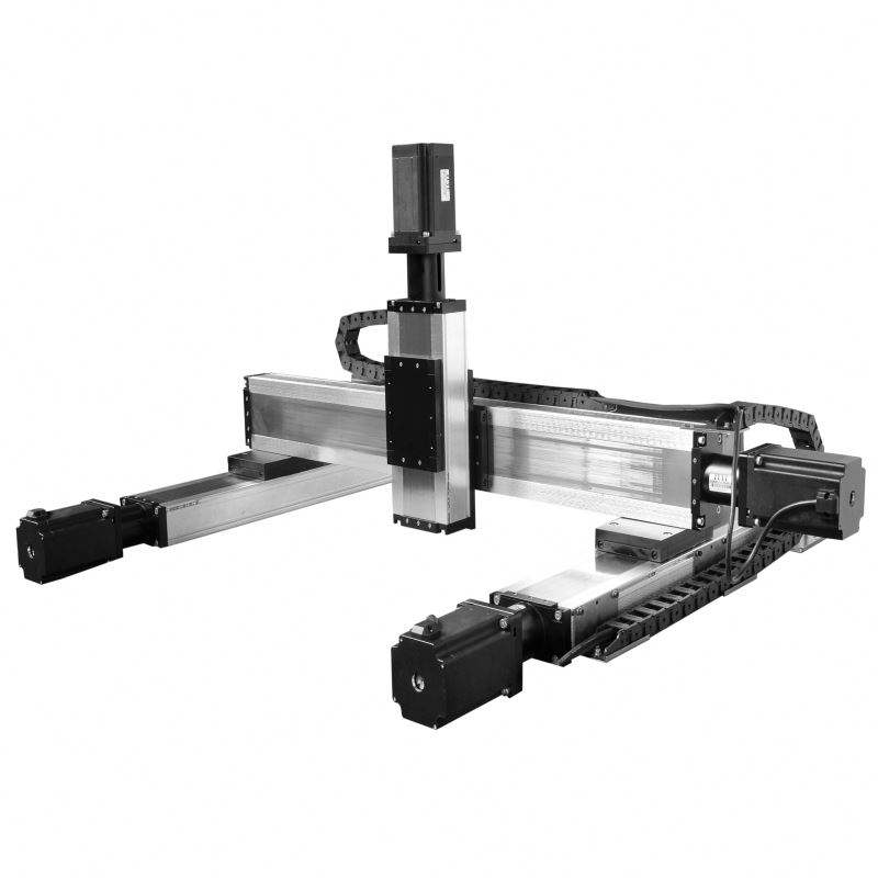heavy duty aluminum ball screw linear positioning stage motion system