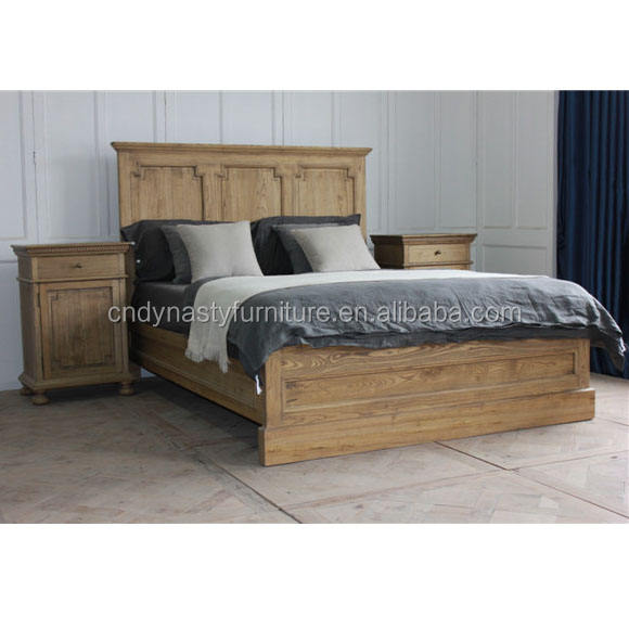 wholesale rustic reclaimed wood furniture bed for bedroom