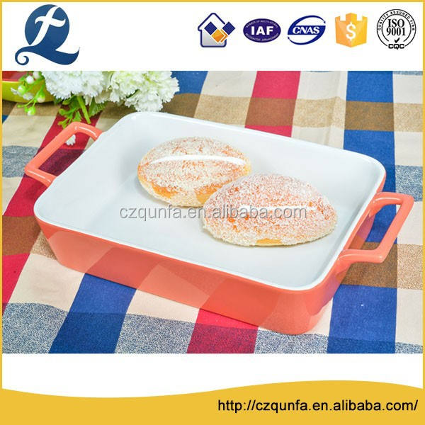Духовка безопасной цвет керамики тарелках прямоугольный керамические противень