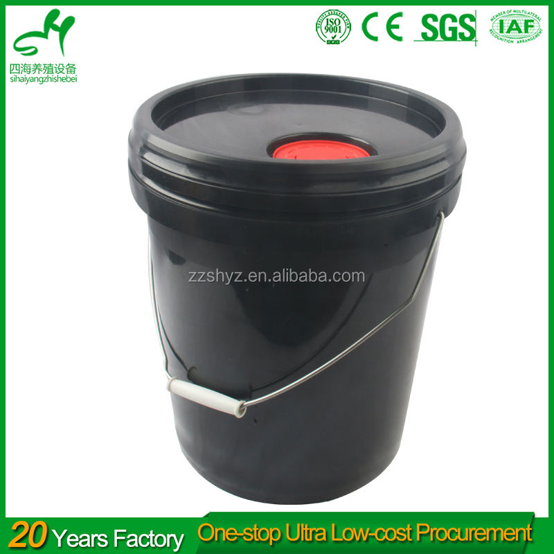 SIHAI wholesale plastic 5 gallon bucket with lid plastic black bucket