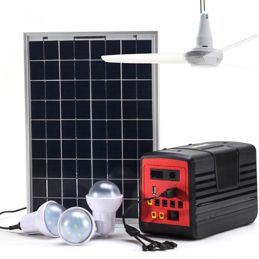 Original Power Solution solar home power station, New solar home system with bright solar lights, mobile charging and radio