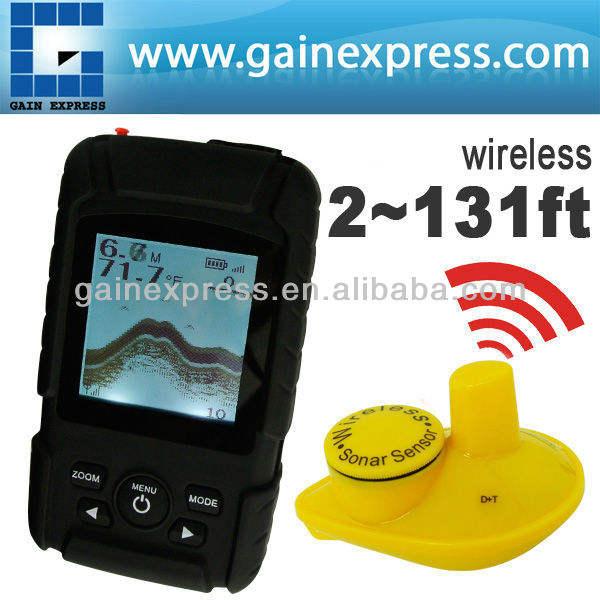 FF-718Li-W Bateria Recarregável À Prova D' Água Sem Fio Fishfinder SORTE/2-131FT Sensor 125 kHz Freqüência do Sonar Fish finder