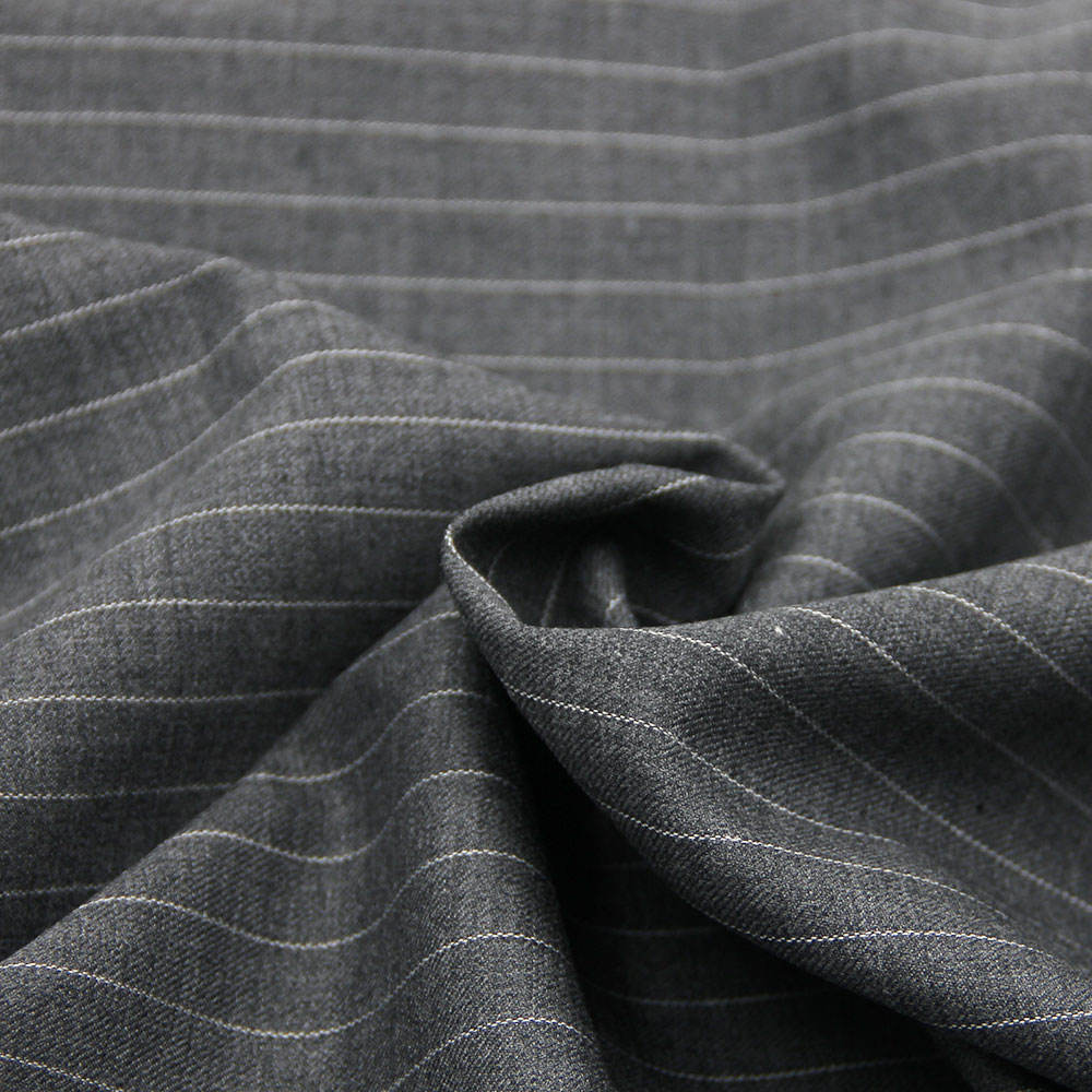 Wholesale Italian stripe Worsted 100% Wool Suit Fabric for Coats