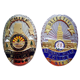 High quality gold and silver police officer military soft custom lapel enamel pin badge
