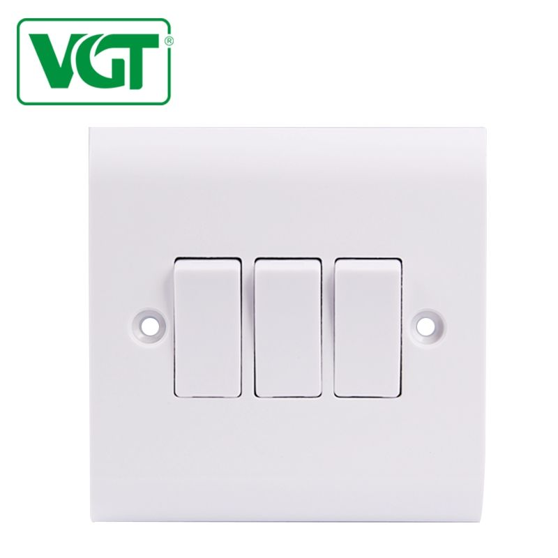 VGT 250V BS Green And Eco-friendly Africa Egypt British Standard 10A Electric Wall Switch