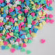 Mixed Color Clay Chocolate Sprinkles Heart Shaped DIY Parts Faux Cake Decorating Slime Supplies