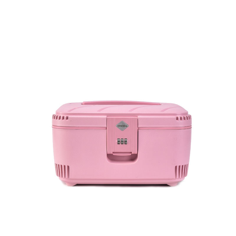 BUBULE Multifunctional Portable Travel Makeup Case Password Lock Cosmetic Case