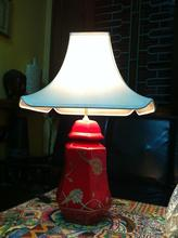 Laquer painting on ceramic table lamp for hotels, guest houses, resorts and home decoration