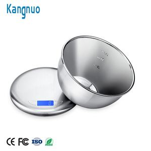 Stainless Steel Durable Vegetable Kitchen Food Scale Measuring Multifunction Electronic Digital Scale With Bowl