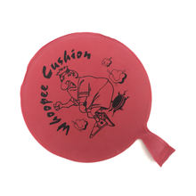 Promotional funny joke 8 inch custom rubber whoopee cushion prank toy without sponge