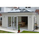 Anglia Glass Green House Sunroom Large Orangery Glass Conservatory Roof Of Flowers Garden Sunroom 4 Season