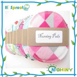 waterproof printed color breast pads breastfeeding pad nursing pads washable reusable