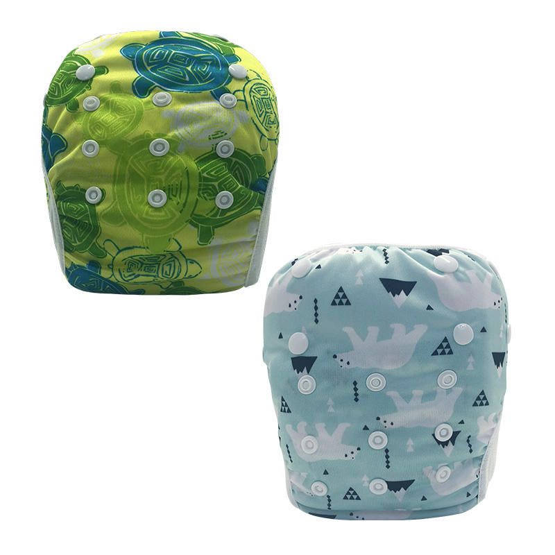 50 Pcs Free Shipping Printed Design Reusable Swim Diaper for Child
