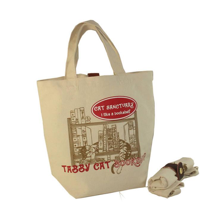 Wholesale Custom Printed Women Canvas Book Bag, Cotton Non Woven Tote Shopping Bag