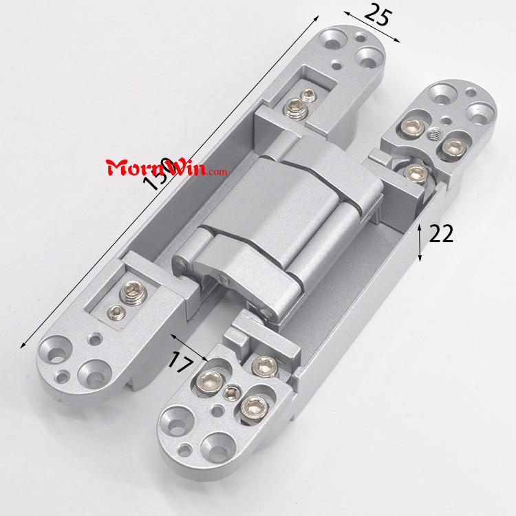 Smooth casing Zinc alloy three direction adjustable concealed hinge