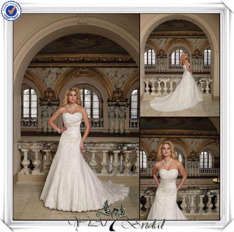 Plus récent jj3372 un- ligne de robes de mariée bretelles amovibles perles swarovski