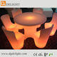 Decoration remote control illuminated rechargeable table and chair with led light for banquet