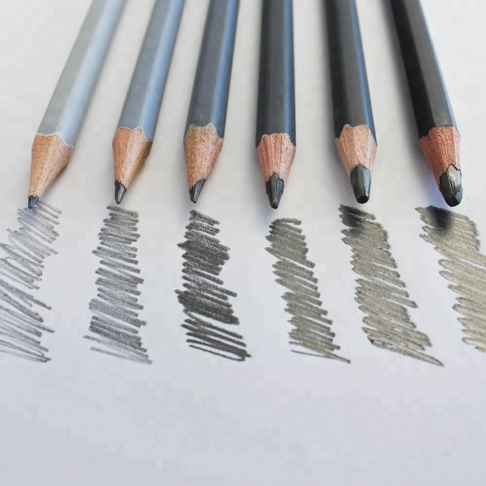 High Quality 12pcs Graphite & Charcoal Sketch Pencil Set