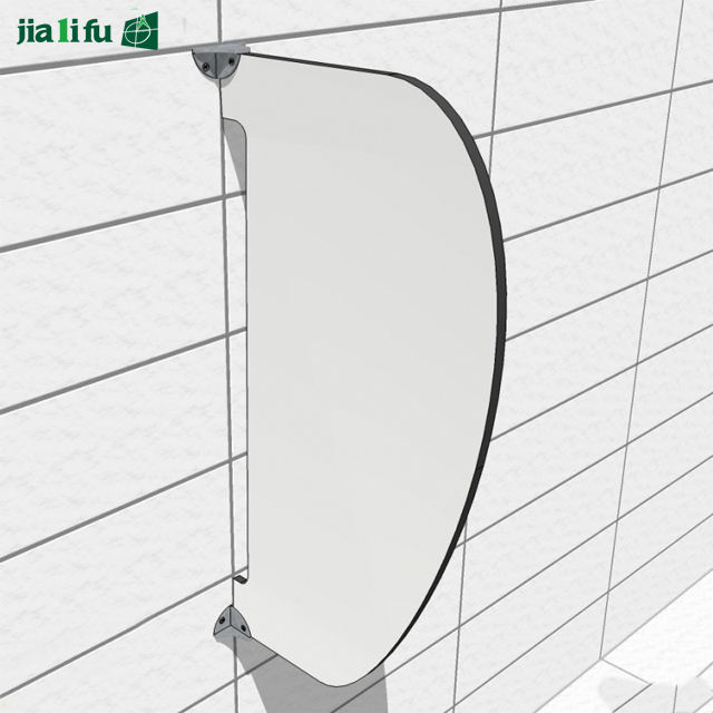 Waterproof solid phenolic male urinal partition board