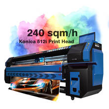 Digital Konica Flex Banner Printing Machine Price With Konica 512i Head Solvent Printer