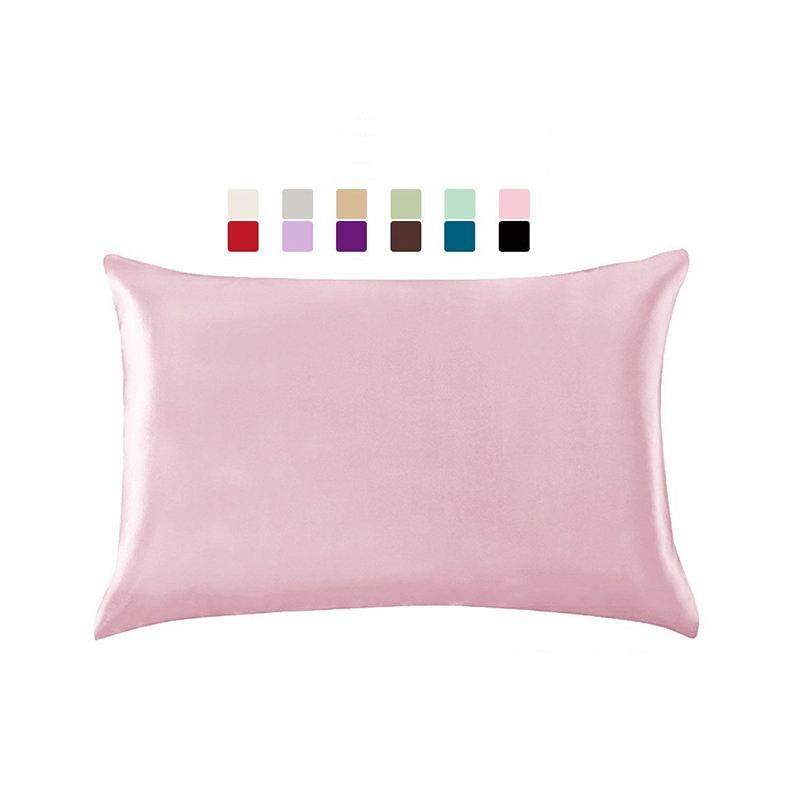 High quality silk looking and hand feel satin home imitated silk custom pillow cases