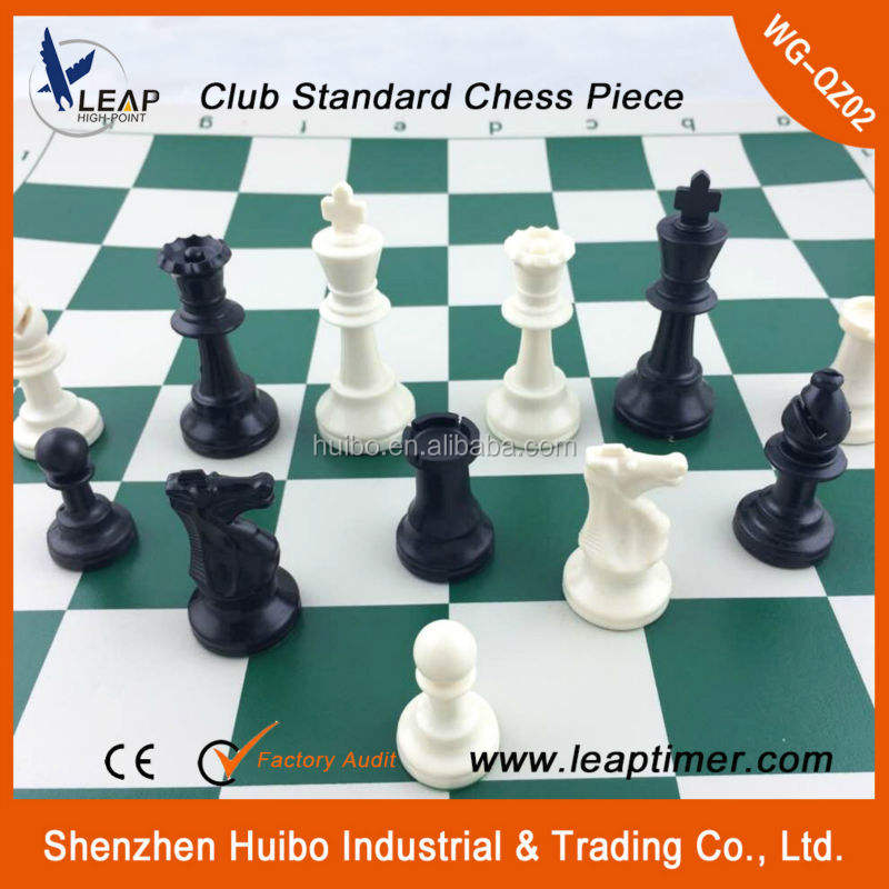 plastic durable chess pieces/chess man