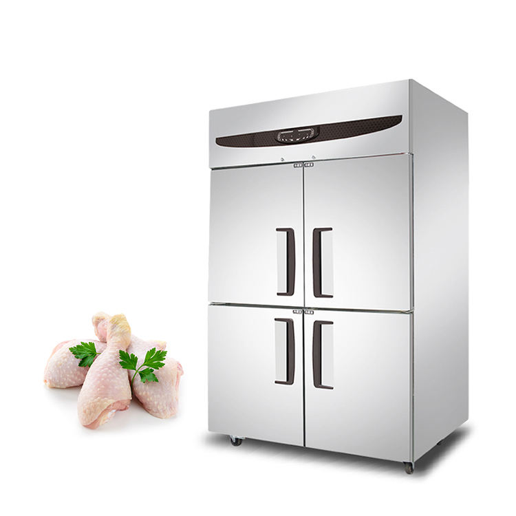New commercial kitchen refrigerator 4 doors upright freezers stainless steel refrigerators