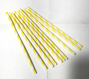 Wholesale High Quality Printed Party Decoration Biodegradable Striped Paper Drinking Straws
