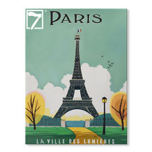 Art Decor Vintage Poster Hand Painted Paris Oil Painting on Canvas
