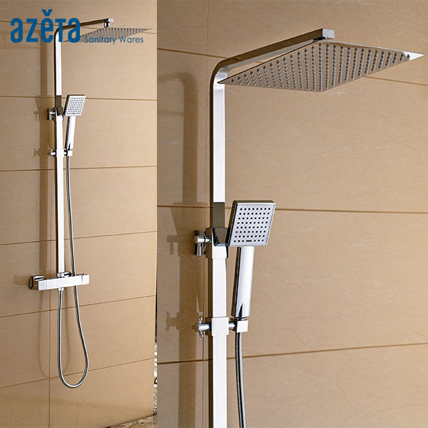 High Quality Cheap Exposed Thermostatic Mixing Valve Shower Faucet Set