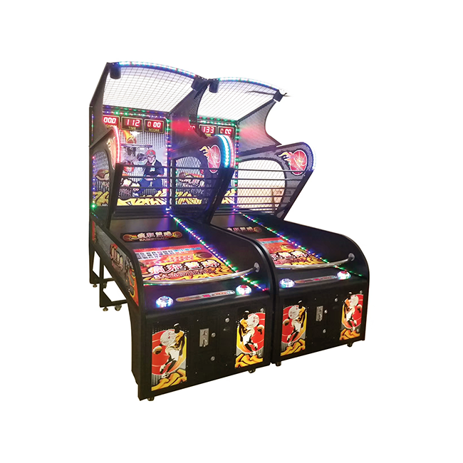 Coin opated indoor electronic street basketball shooting game hoop game arcade game machine