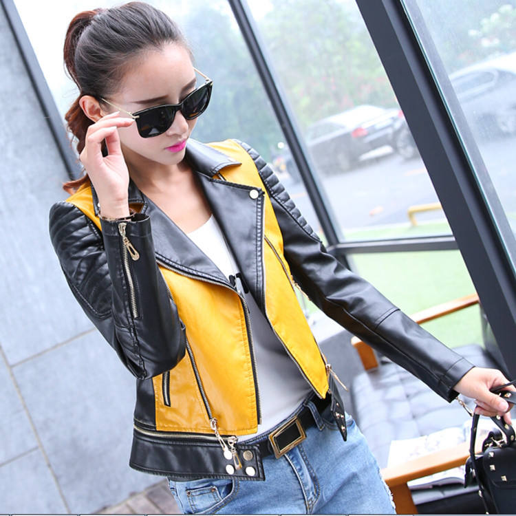 Wholesale Pu Leather Jacket High End Fashion Women Leather Jacket