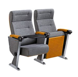 Modern lecture theatre room high back folding cushion auditorium hall chairs seating with writing table