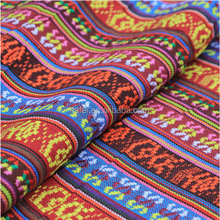 ethnic jacquard fabric polyester fabric upholstery fabric