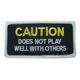 CAUTION DOES NOT PLAY WELL WITH OTHERS patch biker vest/jacket MOTORCYCLE