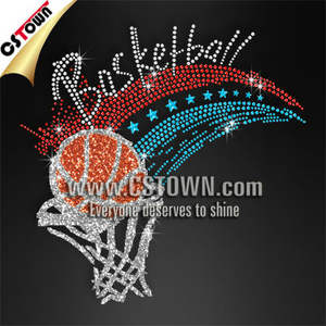 CSTOWN Exklusive design strass basketball transfer