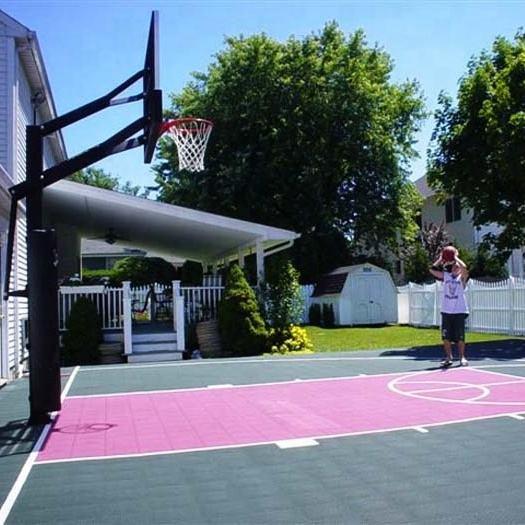 Interlocking drainage tiles multi-purpose sports flooring used basketball courts for sale