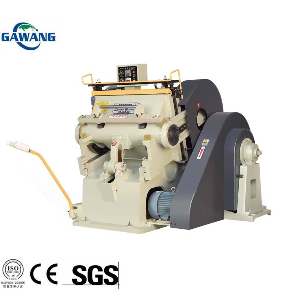 Cardboard Hot Foil Stamping Creasing Die Cutting Machine With Good Price