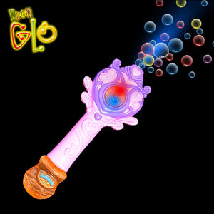 Factory wholesale girls hand Magic wand stage lighting bubble toy