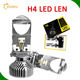 Super power Car Mini h4 led projector headlight 8000 Lumen Y6 Mini Projector H7 80W LED Headlights G20 G7 H4 led projector lens