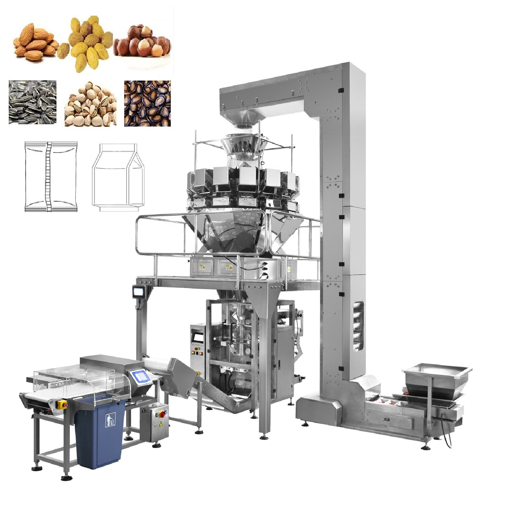 Chips de banane machine d'emballage/légumes/machine à emballer de haricots