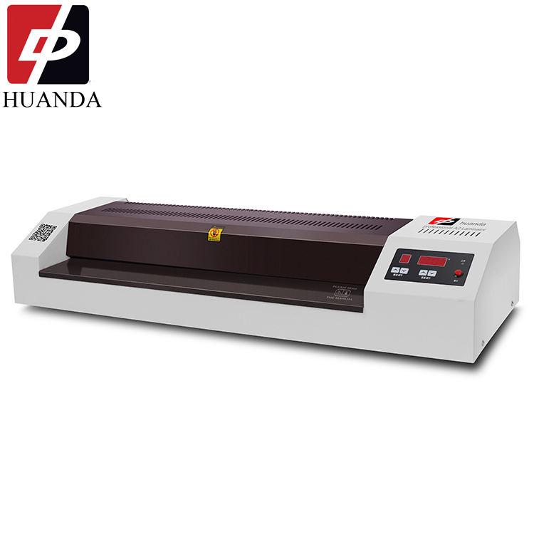 HD-550A 550mm 4 Rollers Hot Melt Electric Paper Rolling Laminating Machine For A4 Size