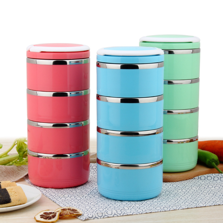 Wholesale Customized Promotional Price Good Quality Free Sample 304 Stainless Steel Bento Lunch Box With 3 Layers