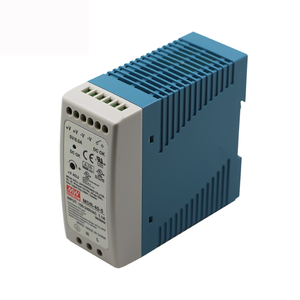 60W Din Rail Power Supply 24VDC 2.5A MDR-60-24 Meanwell SMPS Única Saída Industrial