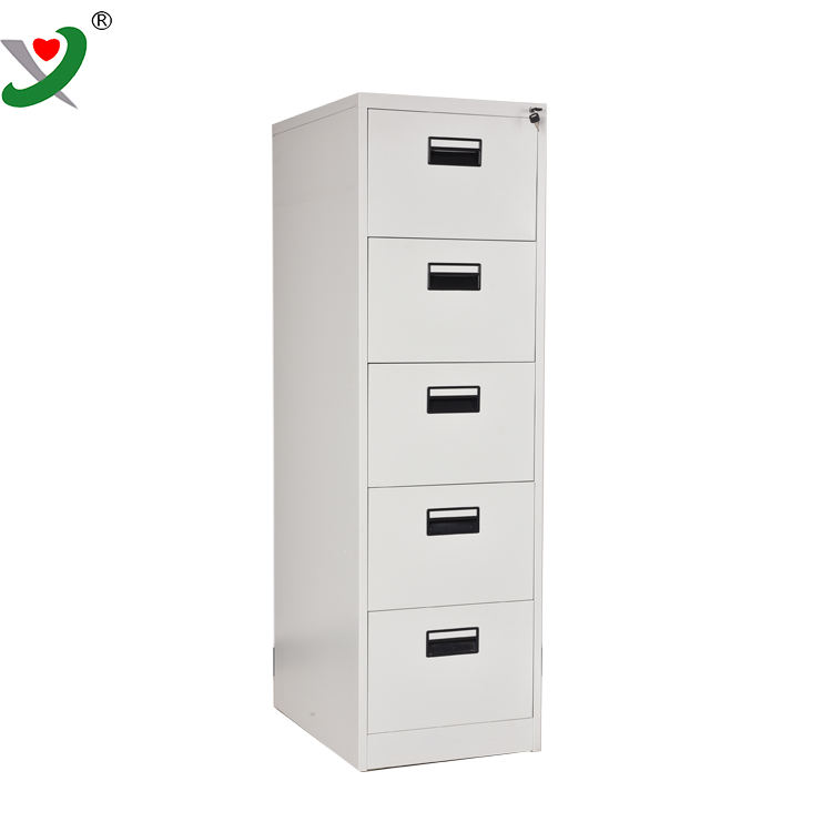 Factory anti tilt device steel cabinet 5 drawer vertical filing cabinet
