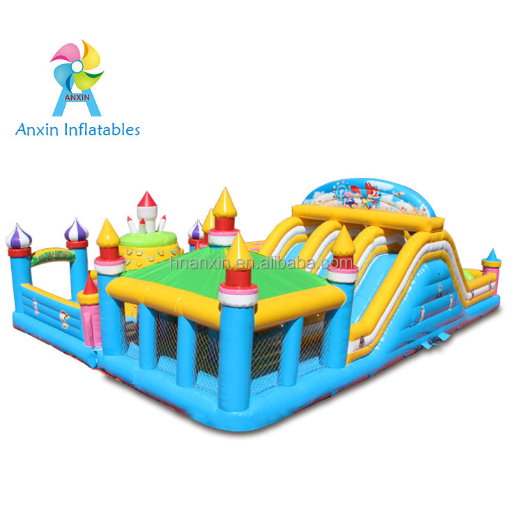 inflatable maze bouncer castle, inflatable bouncer with small slide for kids, inflatable playing house tent with arched gate